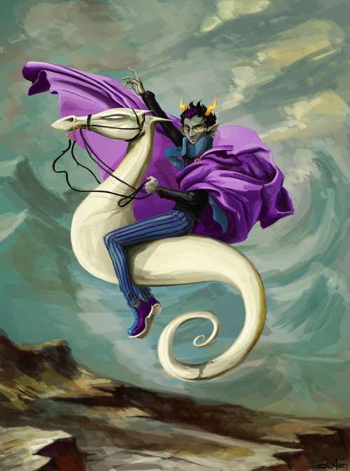 rumminov:  saywhiplash:  Trade- Eridan by ~olafpriol Let me bring this back.  Pretty sure this was the first Homestuck fan art I ever saved