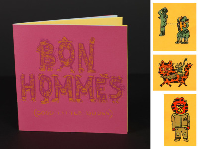 Bon Hommes (Good Little Dudes) book is back in stock!48 pages of radical little creatures… perfect for Dungeons & Dragons or tattoo options… each character is individually named in the appendix by the incomparable Ben Sisto.