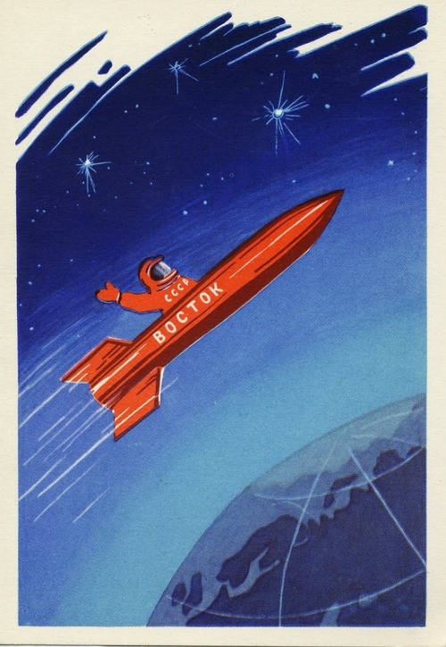 shapka-ushanka:  soviet-posters:  Восток Vostok    fuck yeah earth  look at me  im on VOSTOK and youre not  ON VOSTOK  are you JEALOUS OF ME