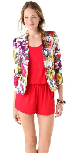 Flawless floral blazer by Alice + Olivia