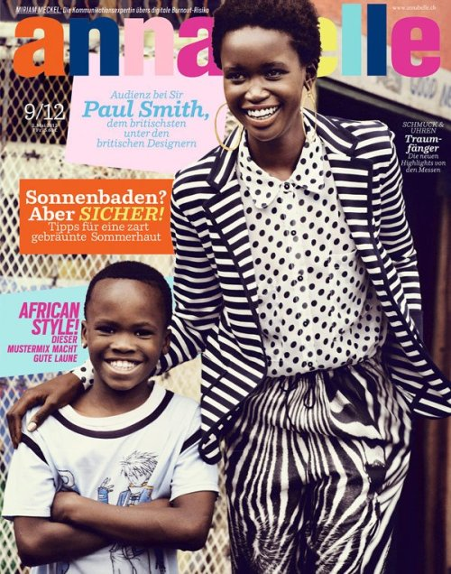 modelsofcolor:  Akuol de Mabior on the cover of Annabelle magazine