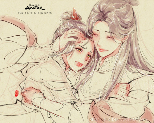 kelly1412:  Mother and Daughter _ Ursa x Azula by *kelly1412 Happy mother's day. (sorry for made such a sad picture) But my emtion is really~ I don't know what has happened between Azula and Ursa, But I believe Ursa loves her daughter all the time. Really hope it can be cleared someday. @Bryan Konietzko