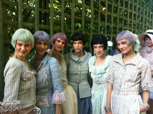 Backstage at Chanel Cruise (Sam McKnight)