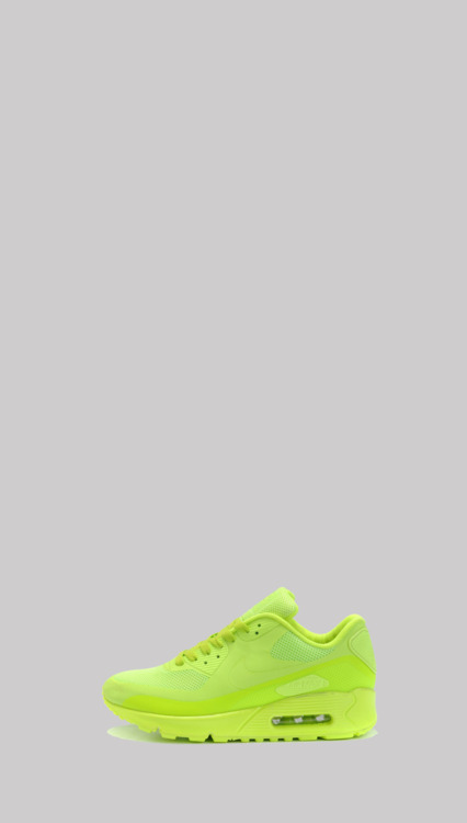 shoe-pornn:  Nike Air Max 90, Hyper-fuse-Lumo Yellow.