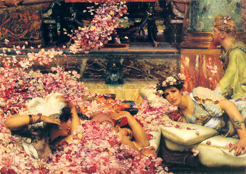 Sir Lawrence Alma-Tadema, 'The Roses of Heliogabalus' (detail). 1888.