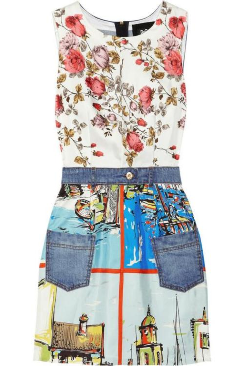 Playful combination of prints and denim by D & G