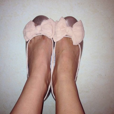 my ballerina shoes!  (Taken with Pose)