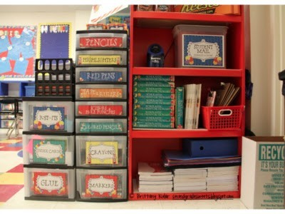 classroomcollective:  Communal classroom supplies organization