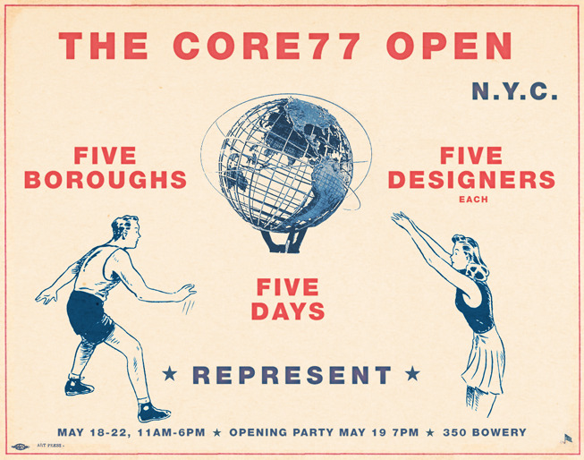 We're thrilled to be a part of the Core 77 Open.  Five designers from each of the five boroughs of New York City- we're repping Brooklyn.  Can't wait to see the other pieces. Four days till Design Week starts!