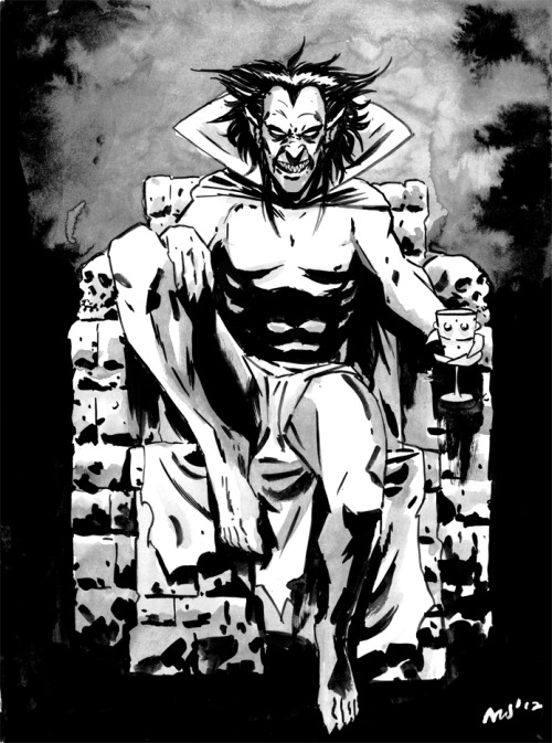 "misterwalsh:  Mephisto for 'Sketch Request Mondays'.This character was requested by OELM  who said…""Marvels Mephisto! "" Got some cool requests this week and was kind of torn between a few but ultimately felt like something a little creepy. Be sure to check out OELMS tumblr for some cool original drawings.Next week I'll be picking a girl character so get your requests ready."