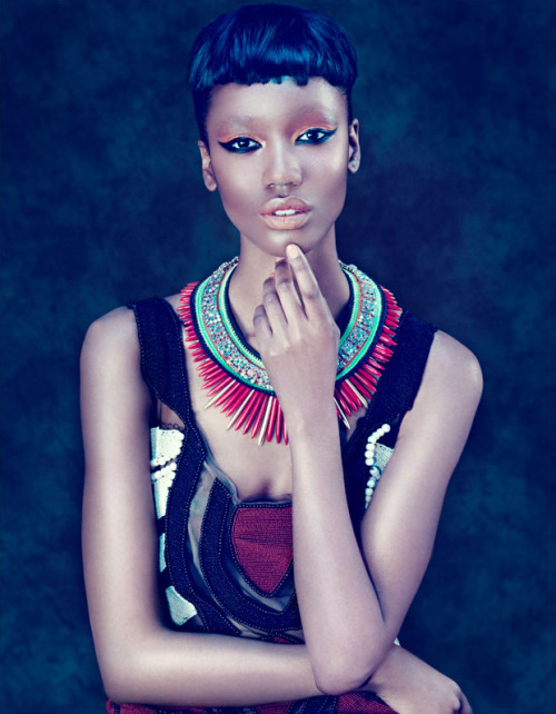 modelsofcolor:  Nadja Giramata in Style Switzerland's May 2012 , photographed by Andoni & Arantxa , styling by Martina Russi, and make up by Andrea Costa.