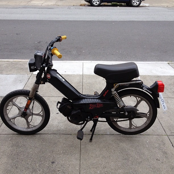 Riding Dirty #moped (Taken with Instagram at Raptors Den)