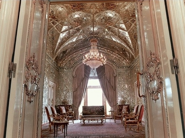 mirror hall - green palace - teheran - iran