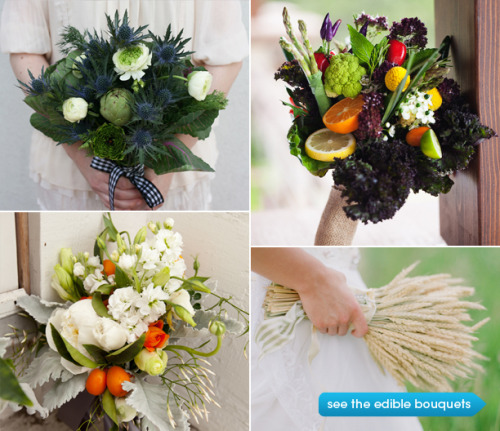 Edible Wedding Bouquets. What a nifty idea! (via Bridal Bouquets for Food Lovers | Weddings at Epicurious.com)