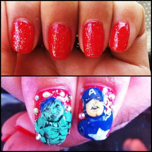 "My ""The Avengers"" nails! :D"