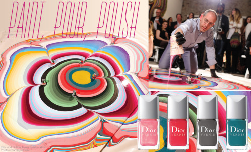 Holton Rower collaborates with Dior to celebrate the 50th anniversary of their nail polsih, Le Vernis!