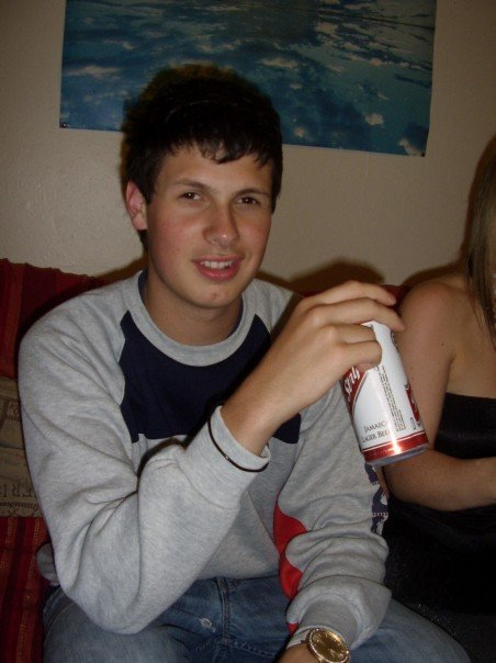 Me drinking Red Stripe in 2007