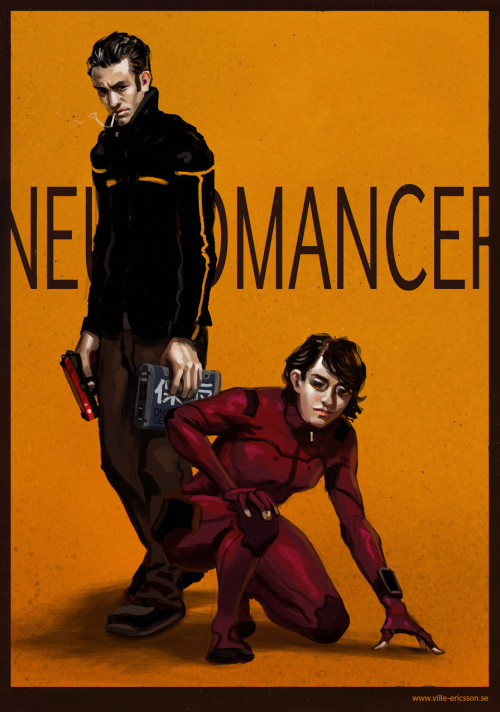 cyberpunkculture:  Neuromancer Case/Molly fan art