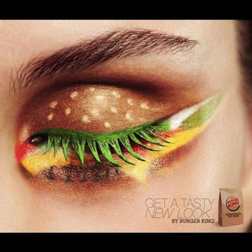 Remind me to do a #todayslook Beauty DIY of this… #BurgerBeauty (Taken with instagram)