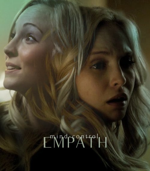 "AU meme - TVD characters as metahumans Caroline Forbes: empathic manipulation > mind-control So she died. It's not that big a deal. Damon brought her back and it turns out the Salvatores have superpowers. Whatever. She kind of figured out the world was weirder than she'd been led to believe when someone who looked exactly like her best friend but was definitely not her best friend killed her. ""How did you know she wasn't Elena?"" Stefan asks gently. ""It was obvious.""""No, it's not!"" Damon snaps. He still looks like shit from saving her life. If he wasn't so rude about it she might thank him. ""They look exactly alike and you wanna know why? Because they're the same person! Only one of them is actually real. So how the hell could you tell Katherine wasn't Elena?""""I don't know, all right? Maybe she talks different or something! Maybe you're just oblivious! If you didn't notice, I died yesterday, so why don't you shut up and leave me alone!""Damon takes a step back and returns to his chair. He refuses to look at her but he's got his best death glare on. It's so like him to do something so childish as to give her the silent treatment that she throws up her arms and stomps from the room. When she's gone Damon looks to Stefan and Elena. ""What was that about?"" Elena asks.""Your little friend is a mind-controlling bitch, that's what it was about. She told me to shut up and leave her alone and I couldn't even look at her anymore."""