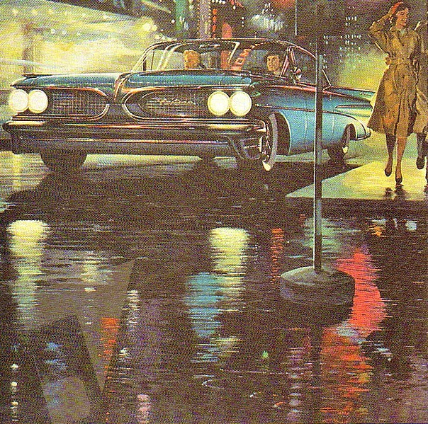 Pontiac 1959 This is a great illustration. Loving the style.