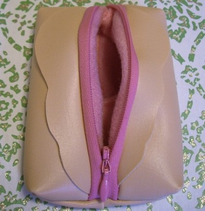 vaginesque:  Coin purse.