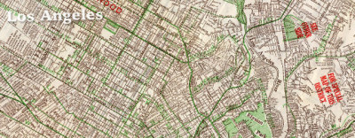Map: Hill's street map of Los Angeles (1928) originally posted to the BIG Map Blog.