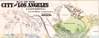 Map: Stevenson's cadastral survey of Los Angeles (1884) originally posted to the BIG Map Blog.