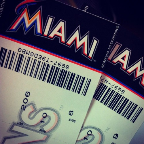 This place keeps impressing me, first flowers and today Marlins tickets… #miamimmarlins