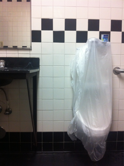 Men's Room, Hollywood Car Wash, Sunset Blvd, private