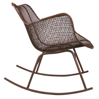 1950.  The Sculptura Rocking Chair by Russell Woodard. Steel mesh construction
