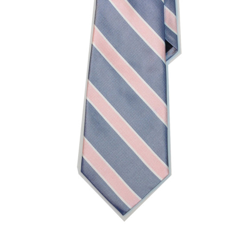 Collared Greens Pink/Navy Poplar Tie Made in New York