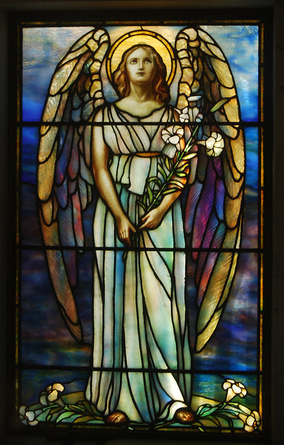 agoodthinghappened:  Rock Creek Cemetery - mausoleum's stained glass window by tiz_herself on Flickr.