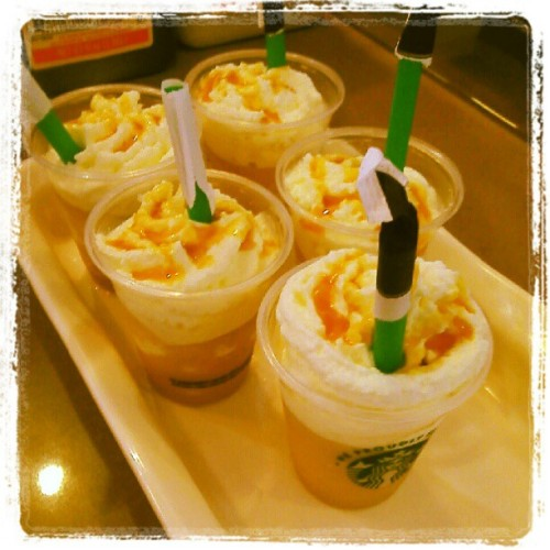 More samples!! :) What flavors would you like to see? #caramel #frappucino #mededcafe #starbucks #uci #whippedcream #samples #goinghard (Taken with instagram)