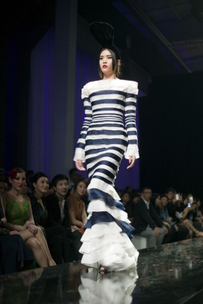 womensweardaily:  A view of Jean Paul Gaultier's show  in Beijing. Photo by Katharina Hesse