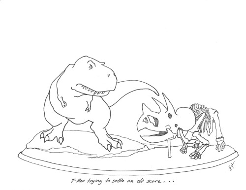 trextrying:  T-Rex Trying To Settle an Old Score… http://blog.hmns.org/2012/05/introducing-lane-a-mummified-triceratops-with-a-new-address-at-5555-hermann-park-dr/ #TRexTrying #HMNS