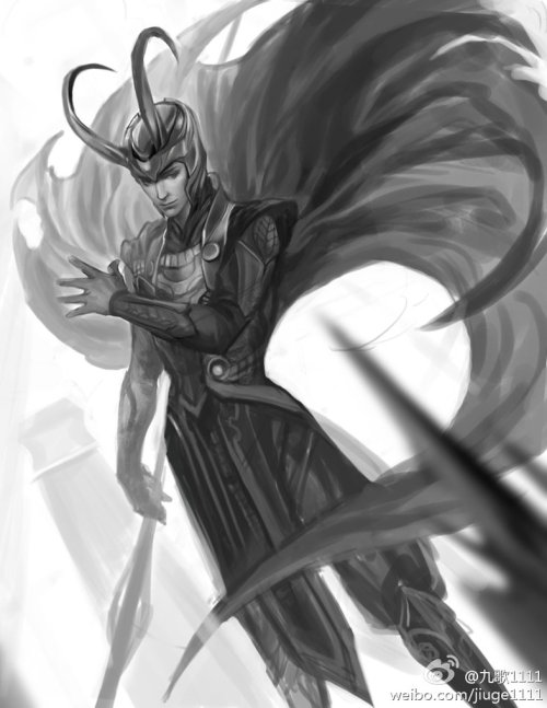 shaerahaek:  Loki wip by *jiuge  Everybody love him!