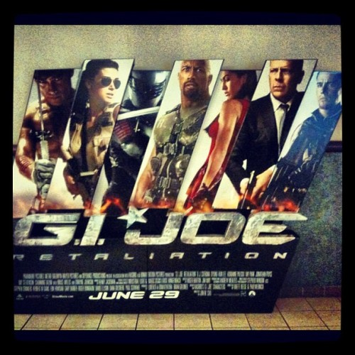 #GIJoe standee we just put up. (Taken with instagram)