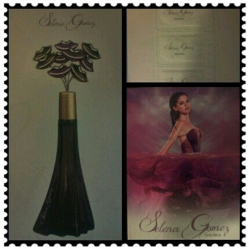 Look what finally came in the mail today :) #selenagomez #perfume  (Taken with instagram)
