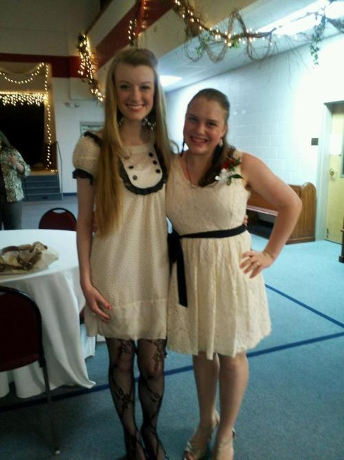It was so awesome to be my friend Brianna's Confirmation sponsor! :)[and yes we are color coordinated on purpose]   but it was such an exciting night! both of us had our Purity rings blessed by the Bishop! <3