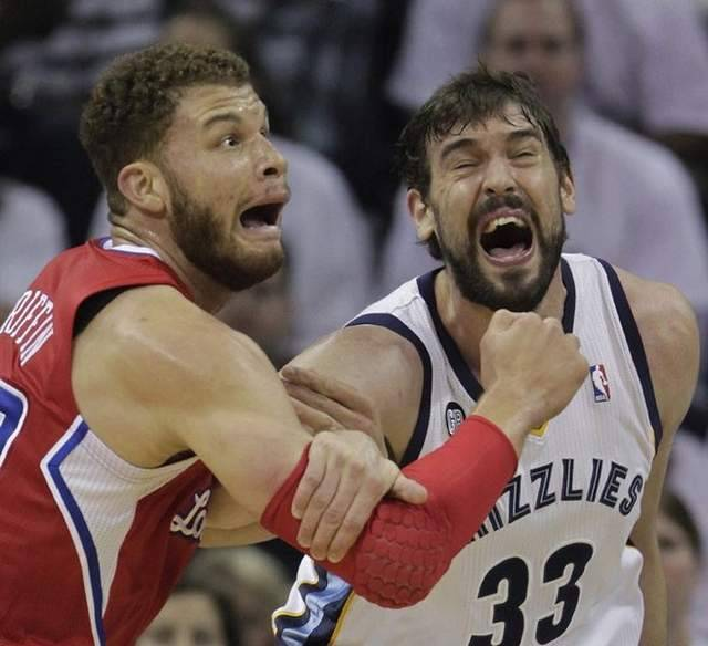 Blake Griffin & Marc Gasol staged an epic Game 7 crazy face-off this past weekend.