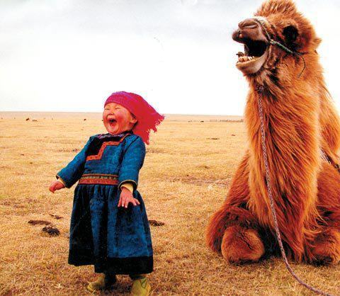 oxboxer:  universalbeauty:  Mongolian girl, having fun with her pet.  NEW FAVORITE BLOG. DO YOURSELF A FAVOR AND FOLLOW IT.  Yeah, um, this picture cheered me up so much I can't even.