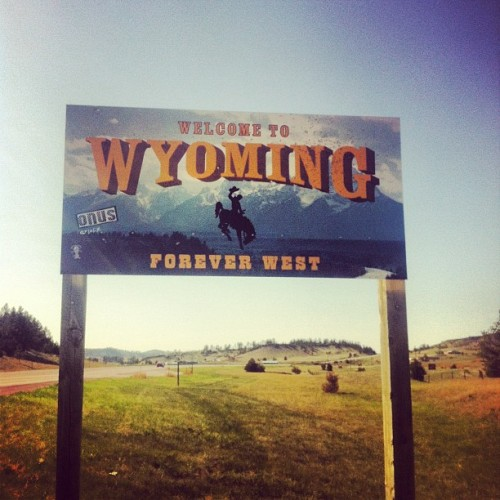 Well, hello. (Taken with Instagram at Wyoming/South Dakota Border)