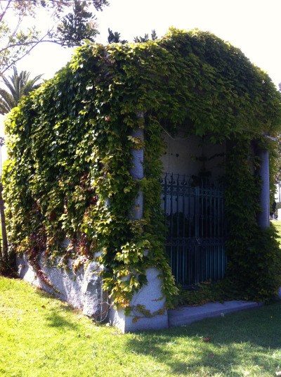 Ivy-covered Mausoleum  Taken at the Hollywood Forever Cemetery.