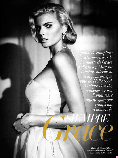 """Siempre Grace"" (+)  Vogue Spain, January 2012  photographer: Vincent Peters  Maryna Linchuk"