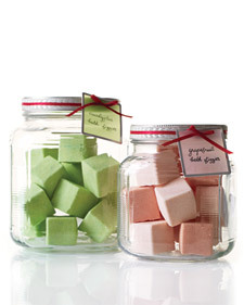 These handmade bath fizzies make a great gift! Recipe courtesy of Martha Stewart.