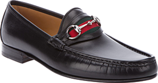 GUCCI leather MOCCASSINS