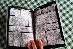…& the comic as it appears printed in the new anthology :) Thanks to Sammy Borras for the photo, for all her hard work putting the anthologies together, and for my copy which you sent me!