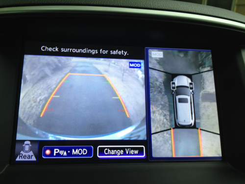 The vehicle has full-surround cameras, so that you can have 360° of protection in a zombie attack.