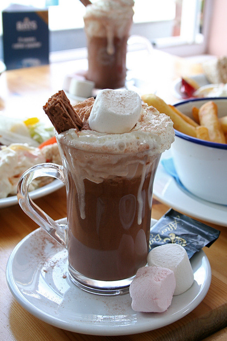 looksyummy:  Bubbling Hot Chocolate With Marshmallow      find more mouthwatering treats and recipes here!   queued :) x